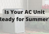 is your ac unit ready for summer?