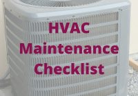 hvac maintenance checklist.