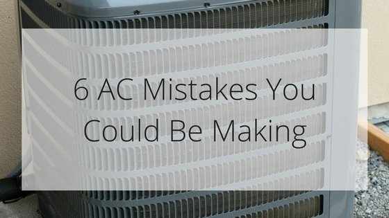Air conditioner mistakes in FL.