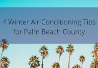 Winter air conditioning tips.