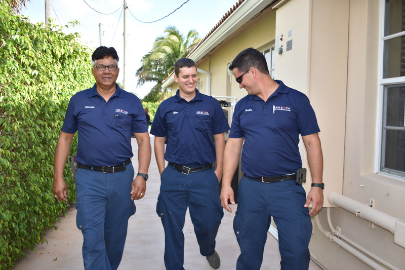 three air boca employees candid