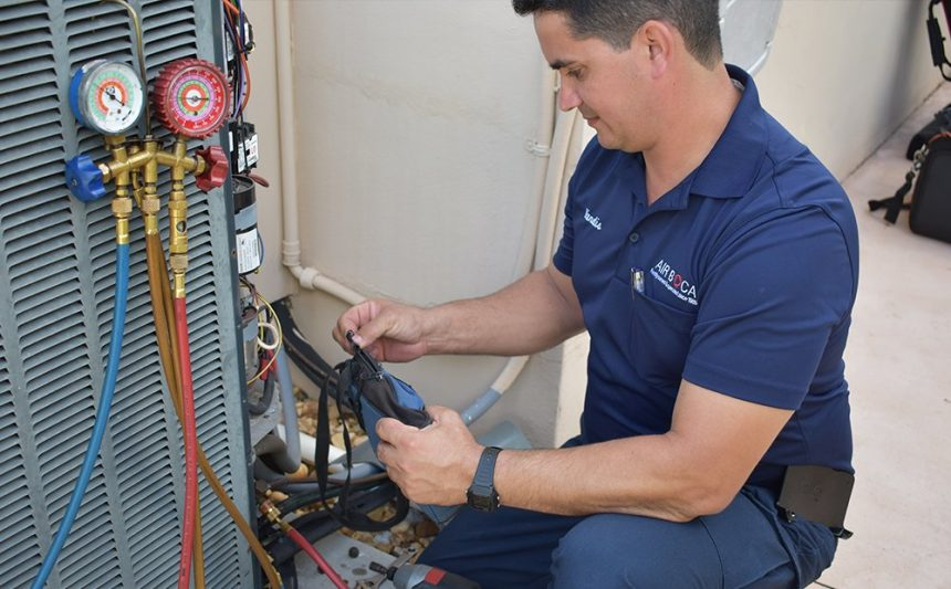 Air Boca technician AC repair.